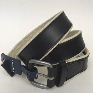 Cole Haan black leather mens  belt size 42